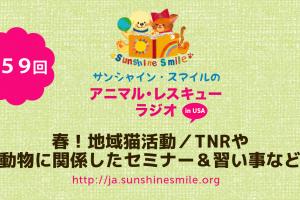 アニマルレスキュー・ラジオ!第59回:春!地域猫活動/TNRや動物に関係したセミナー&習い事など