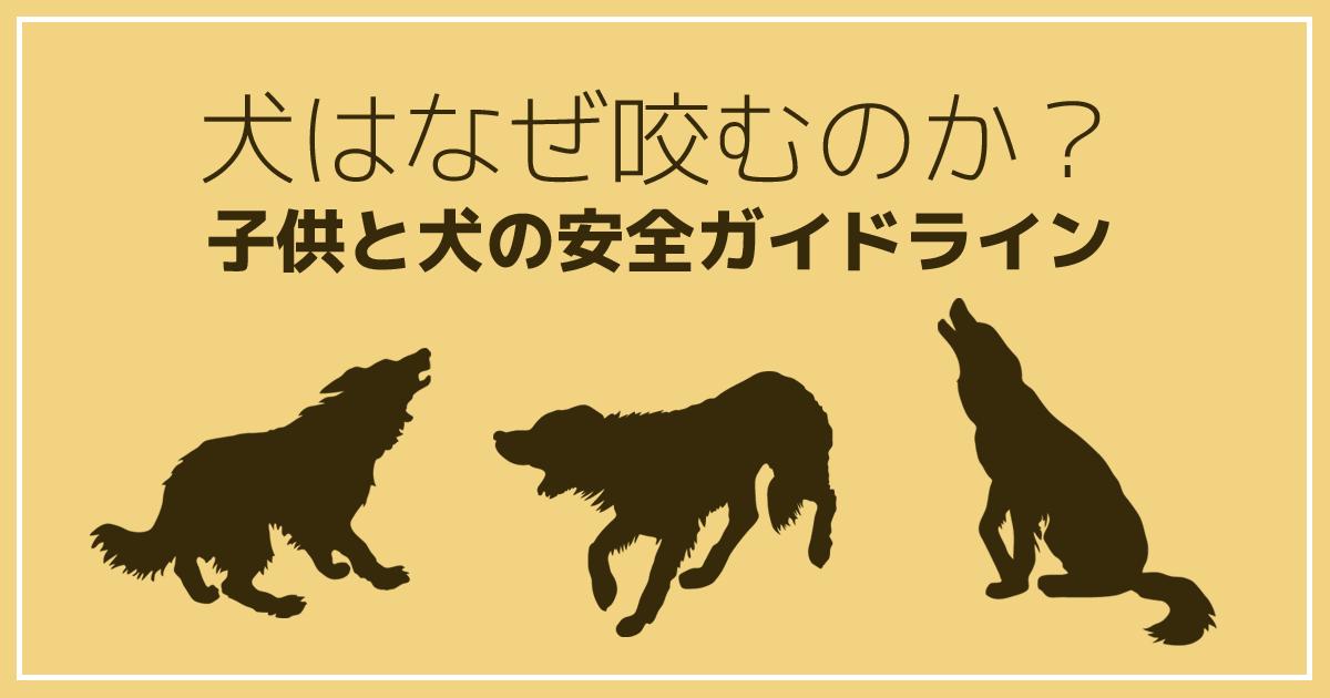 犬はなぜ咬むのか?安全ガイドライン