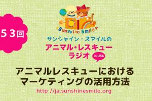 アニマルレスキュー・ラジオ!第53回:アニマルレスキューにおけるマーケティングの活用方法